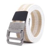 Men Colorful Weaving Plate Buckle Belts Waist Strap Outdoor Slider Buckle Belts