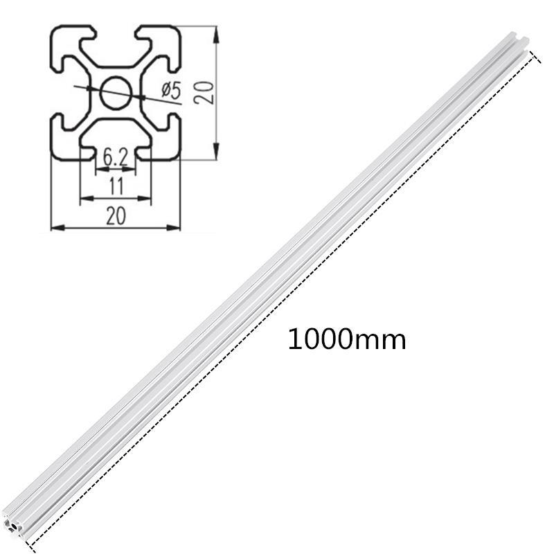 Machifit 1000mm Length 2020 T Slot Aluminum Profiles