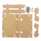 3Pcs Transparent Acrylic Sheet Housing Case For DSP & PLL Digital Stereo FM Radio Receiver Module