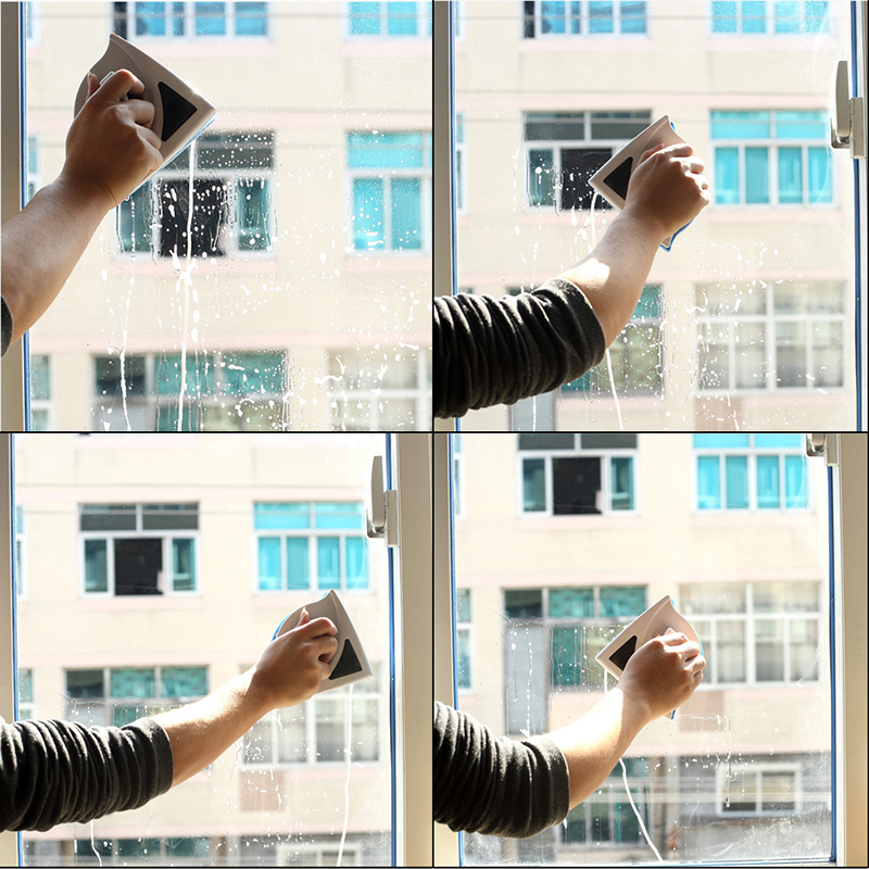 Double Sided Magnetic Window Glass Cleaner Magnets Cleaning Brush Wiper Surface Brush Cleaning Tools