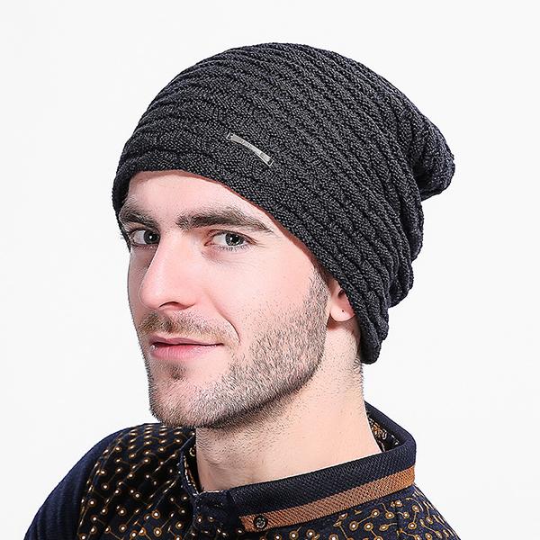f54ab1cfa3c Men Women Stripe Knitted Warm Beanie Cap Solid Casual Thicker Winter Skull  Hats