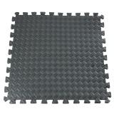 61x61cm EVA Foam Floor Interlocking Tile Mat Show Floor Gym Exercise Playroom Yoga Mat Black