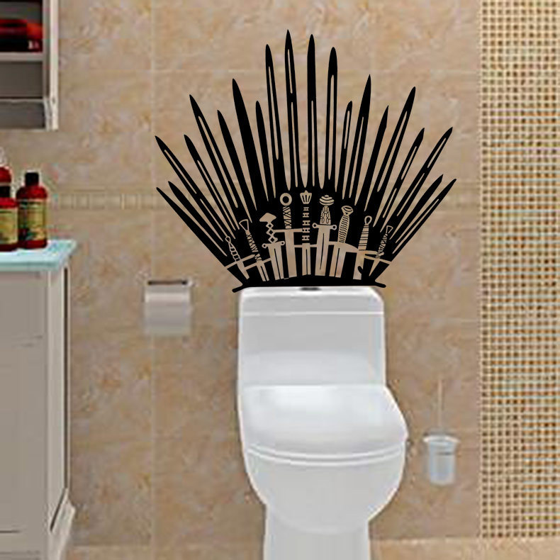 T 2 Game Props Right Iron Throne Stickers Carved Creative Wall