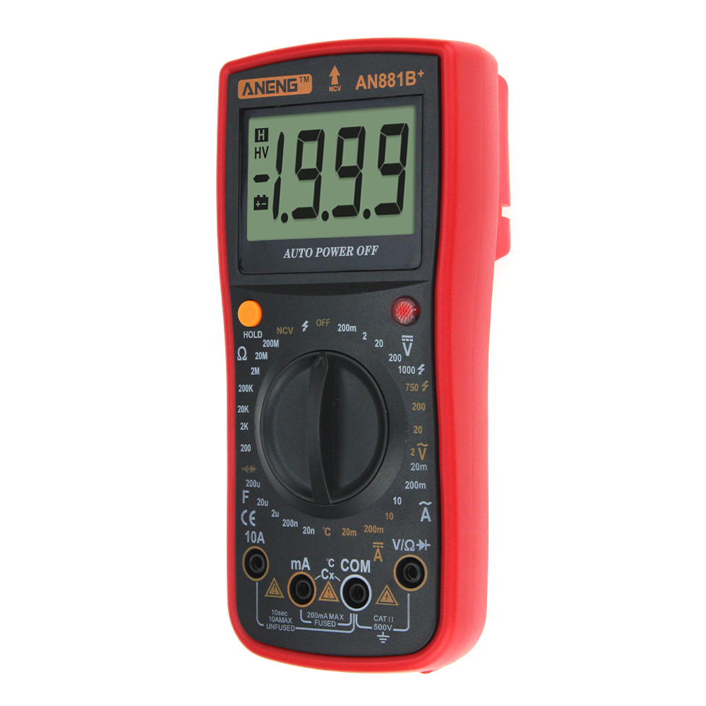 ANENG AN881B+ Digital Multimeter AC DC Voltage Current Temperature Tester Non-contact Voltage Test