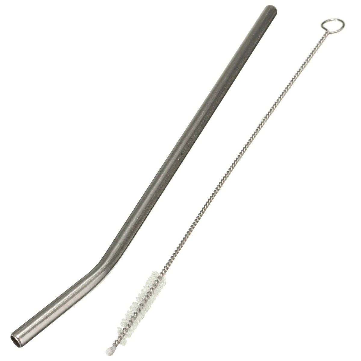Reusable Stainless Steel Drinking Straws Reusable Metal Straw Or Cleaner Brush Party Tableware