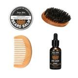 1 Set Shaving Tool Barber Oil Brush Comb Wax Balm for Men Barber Shop Home Use Razor Shaver