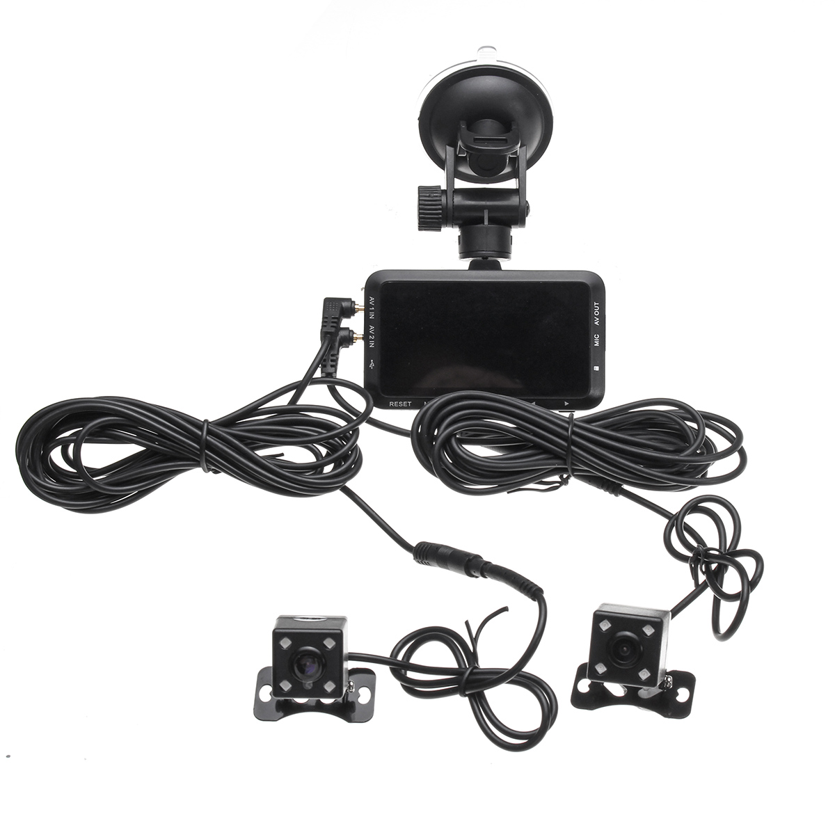 3.0inch 1080P Dual Lens Camera Motorcycle DVR Dash Cam Video Recorder Night Vision