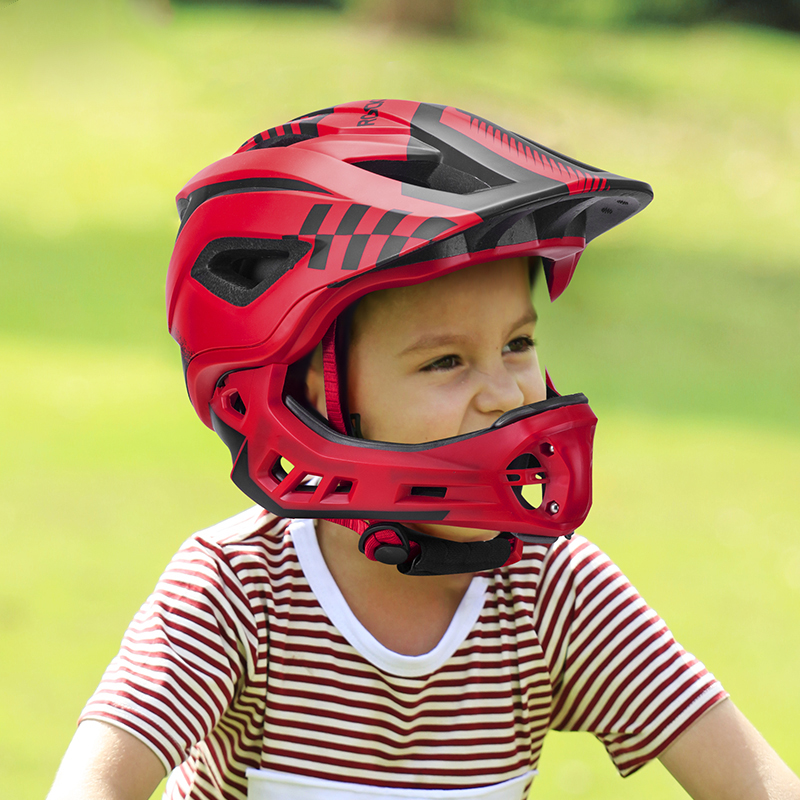 ROCKBROS TT-32 2 In 1 Full Cover Cycling Helmet For Kids Bike Detachable Bicycle Cycling Skateboard