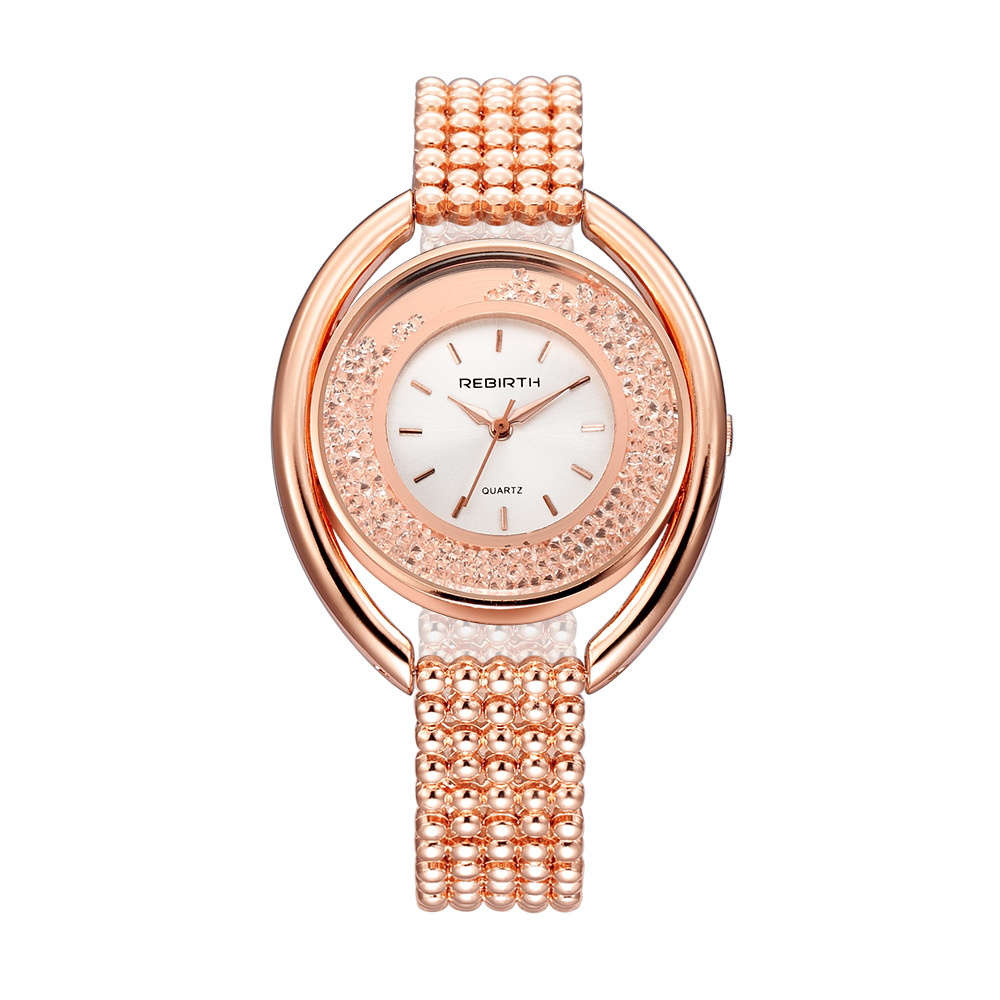 rebirth re079 fashion women quartz watch ladies luxury diamond steel strap bracelet watch