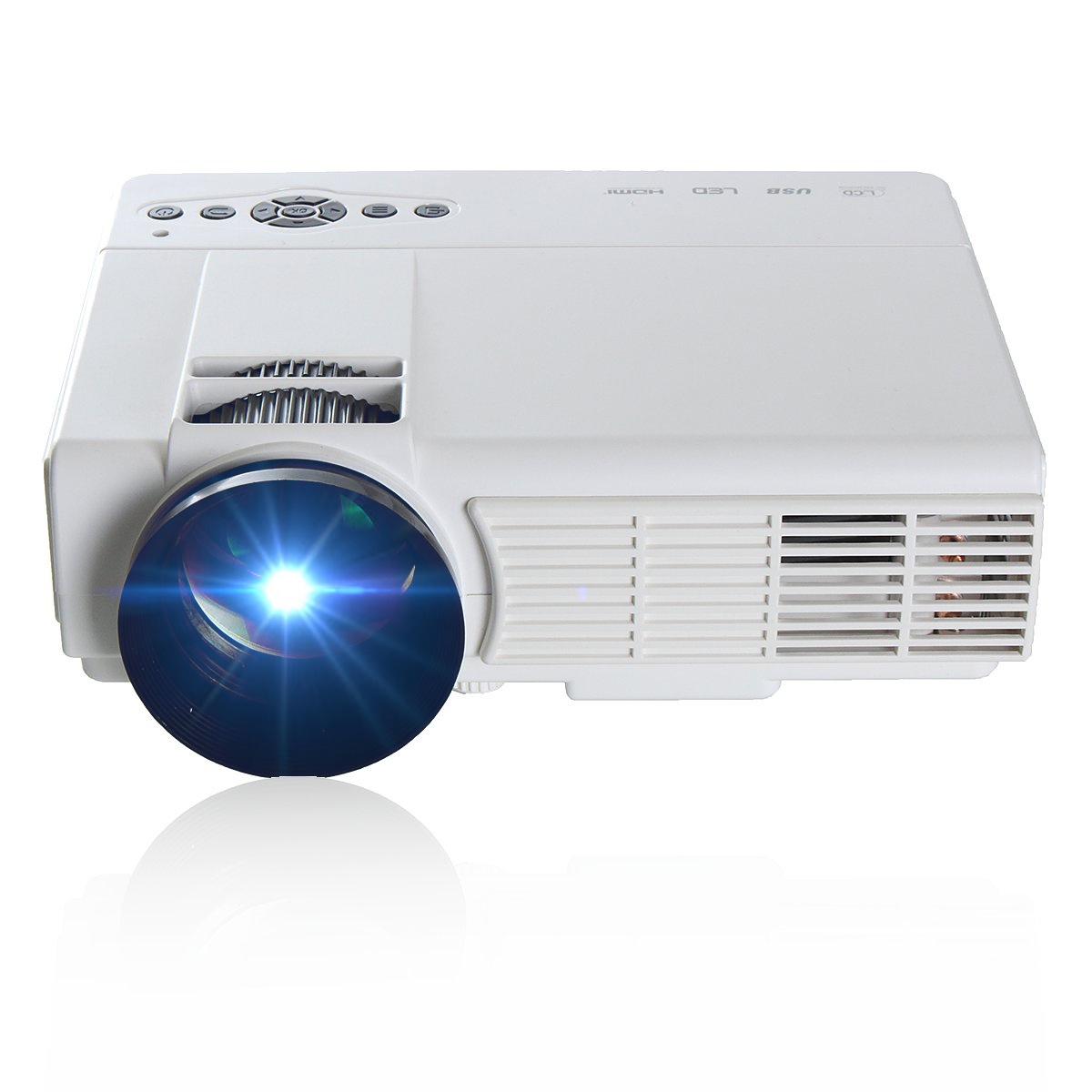 3000 Lumens Hd Home Theater Multimedia Lcd Led Projector: Powerful Q5 3D HD 1080P 3000 Lumens 800 X 480 Resolution