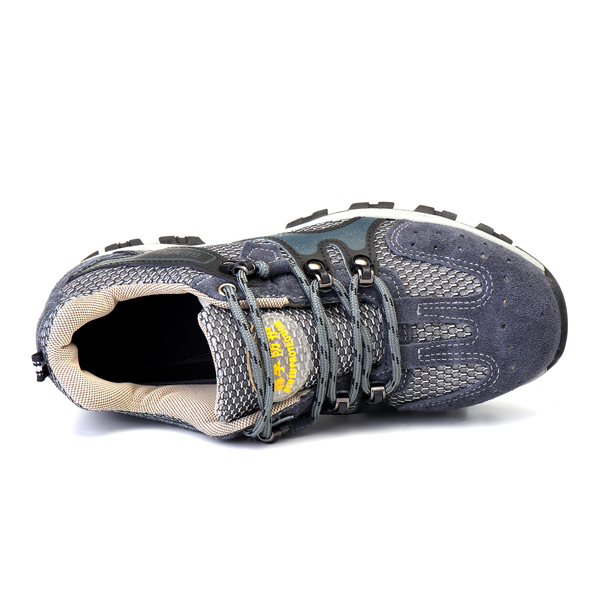 Men's Safety Shoes Steel Toe Work Sneakers Slip Resistant Breathable Hiking Climbing Shoes