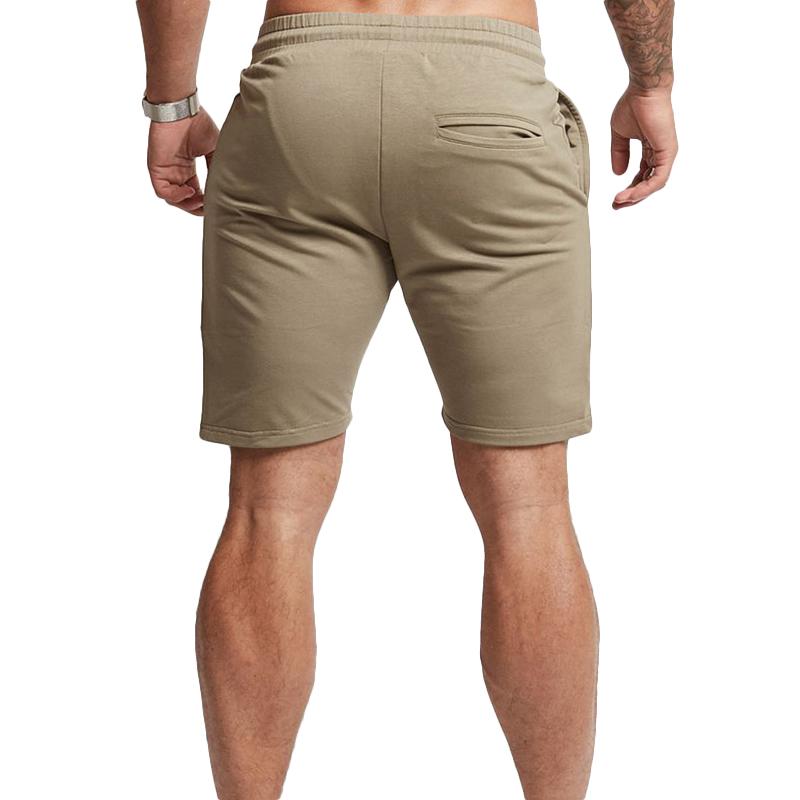 Men's Casual Elastic Waist Drawstring Sports Shorts Summer Running Fitness Training Shorts Pants