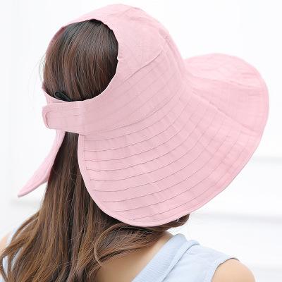 RD-503 Summer Women's Outdoor Sun Protection Folding Big Empty Top Beach Hat