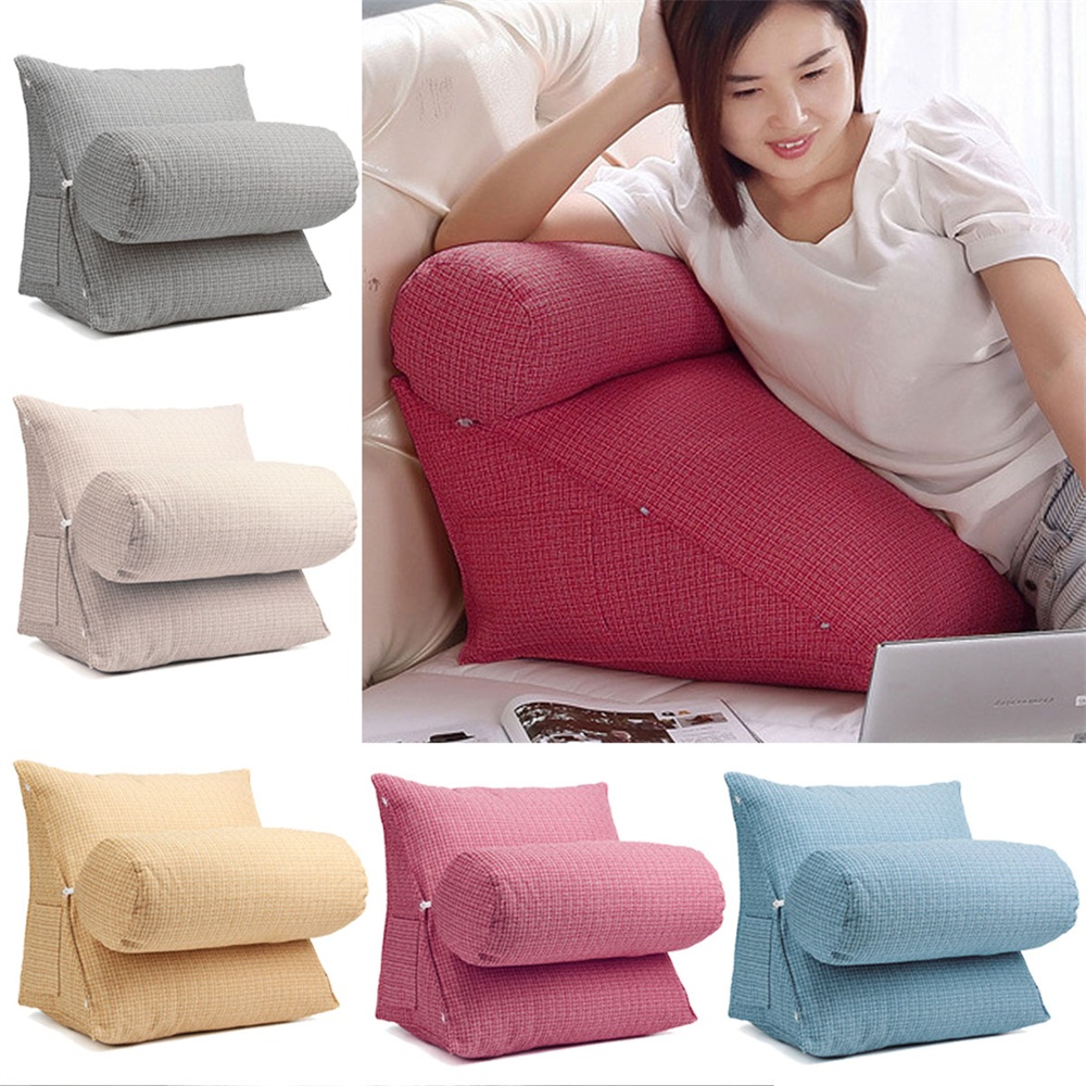 Free Shipping 40 40cm Chair Pad Cushion Pearl Cotton: Adjustable Sofa Back Wedge Cushion Lumbar Support Pillow
