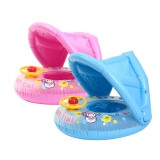 Inflatable Sunshade Baby Kids Water Float Seat Boat Swimming Ring Pool Fun