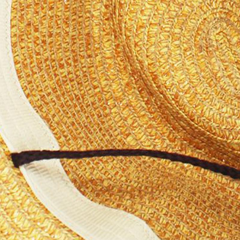 0d6ca715fb6b43 Unisex Panama Folding Straw Cowboy Hat Classic Western Beach Sun ...