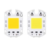 LUSTREON AC110V/220V 30W 40W 50W White/Warm White COB LED Chip 60*40mm for DIY Flood Light