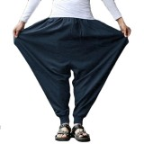 INCERUN Men Casual Harem Pants Loose Breathable Baggy Trousers Large Size S-5XL