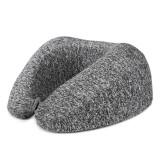 Honana Portable Foldable Slow Rebound Foam Neck Protection U Shape Pillow with Soft Fabric Cover