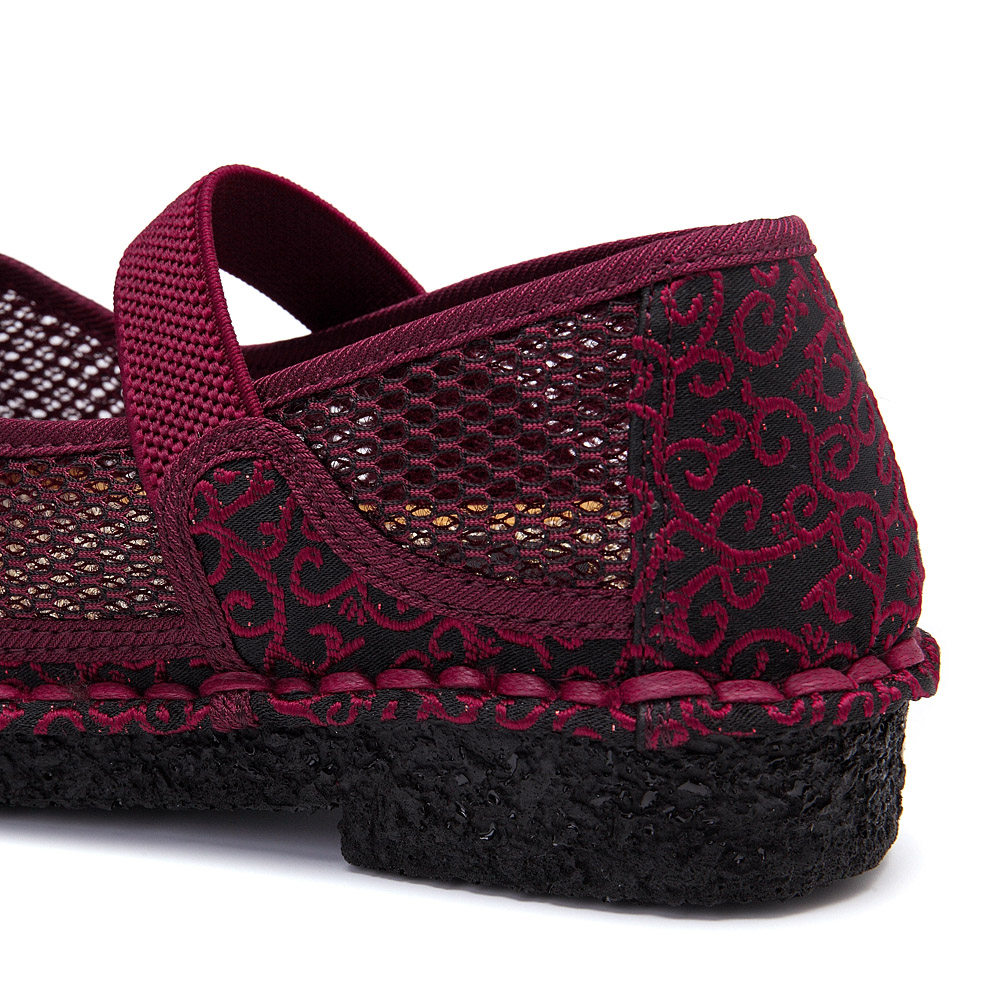 Embroidery Elastic Band Woman Casual Breathable Flats