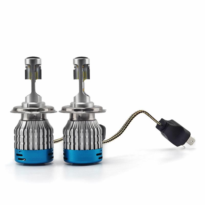 Pair NAO 527D DC12V 60W 6500K 4000LM Car LED Headlights H1 H3 H4 H7 H11 H13 9005 9006