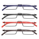 TR90 Flexible Colorful Reading Glasses Half Rim Presbyopic Glasses With Case