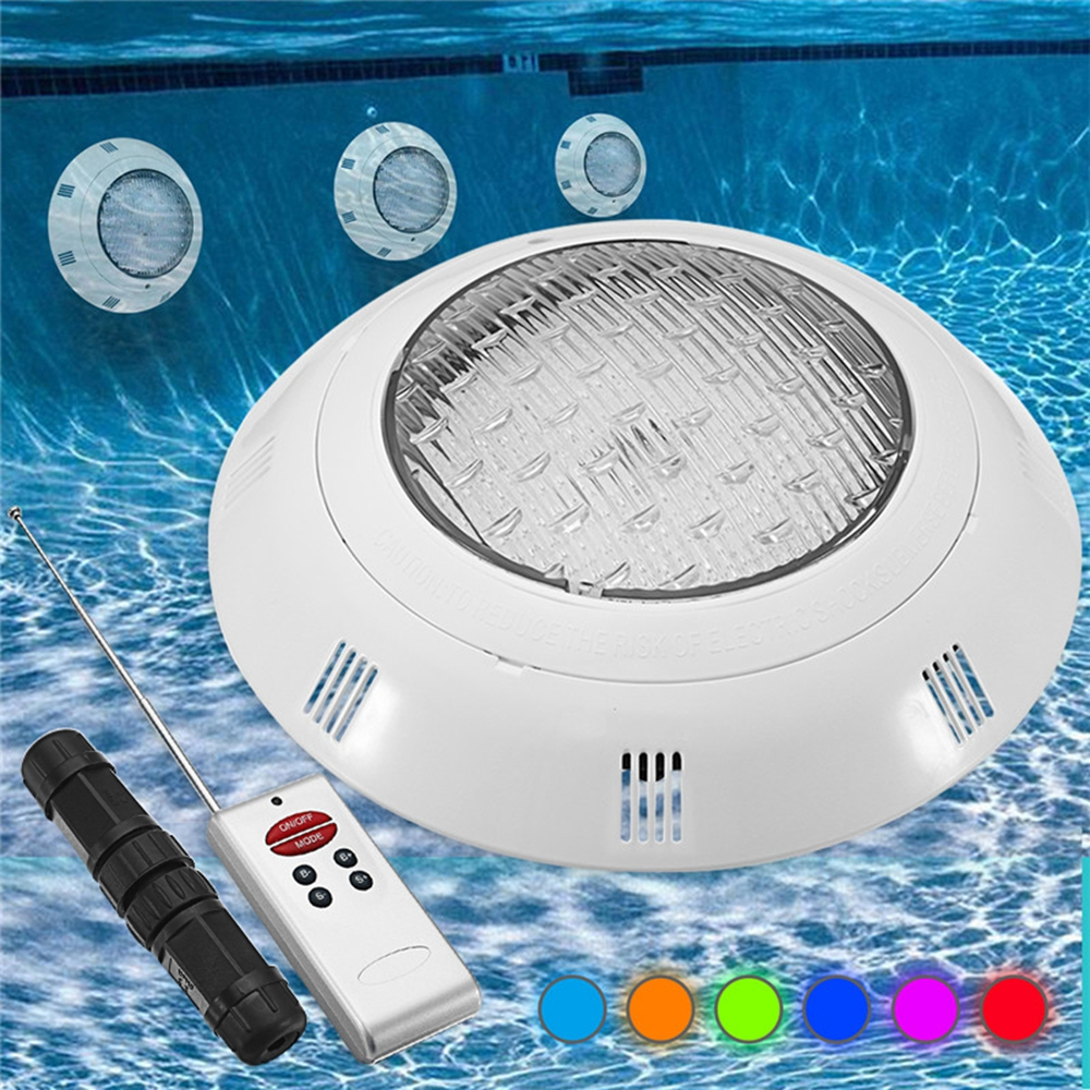 18w Rgb Led Swimming Pool Light Underwater Waterproof Remote Control Wall Mounted Night Light Alexnld Com