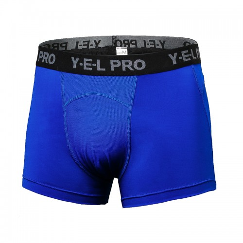 Mens Fitness Sports High Elasticity Breathable Quick Drying Wicking Boxer Underwear