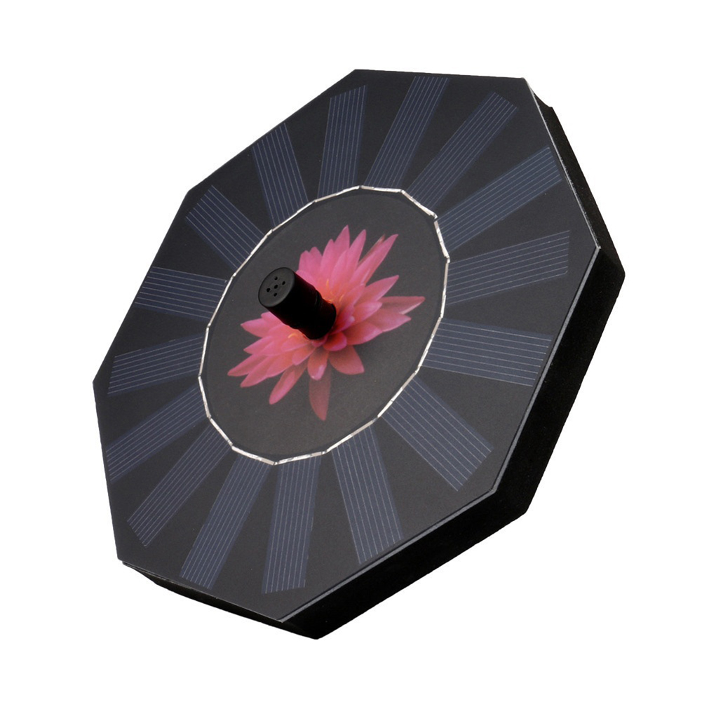 Octagonal-shaped Outdoor Solar Powered Fountain Floating Water Pump for Pool Garden Aquarium Tools