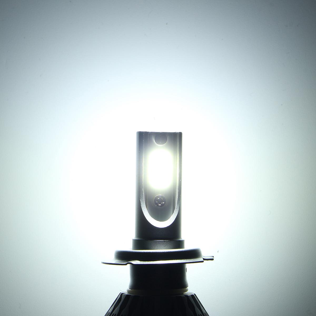 Pair C6 72W 7600LM 6000k-6500K White IP68 COB Car LED Headlights Lamp Bulb H1 H3 H7 H8/9/11 9005/6