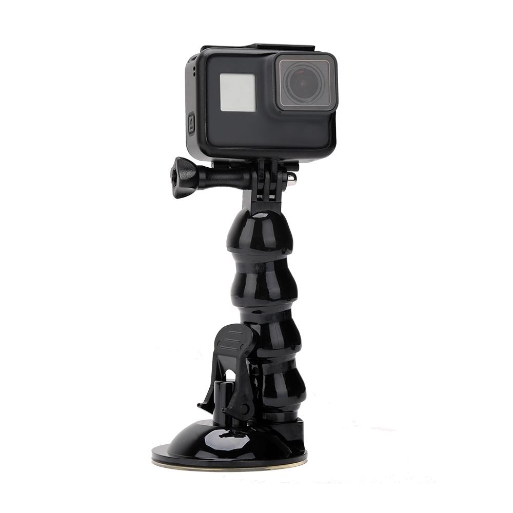 Adjustable Suction Cup Mount 4 Joints Goose Neck Extension Arm 16cm for Gopro SJCAM Sport Camera