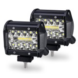 Pair 4Inch 60W 2400LM LED Car Work Light Flood Spot Combo Driving Fog Lamps for Off-road Truck Boat