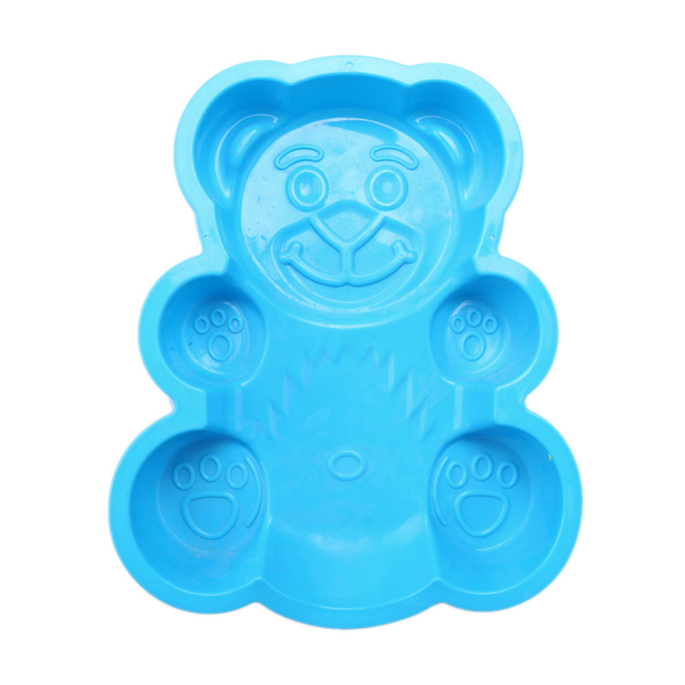 Honana DlY Cartoon Bear Shape 3D Silicone Cake Baking Mold Tools Bakeware Maker Mold Tray Baking