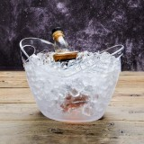 4L Plastic Transparent Garden Ice Bucket Super Large Ice Bucket Beer Champagne Ice Bucket Bar Tools