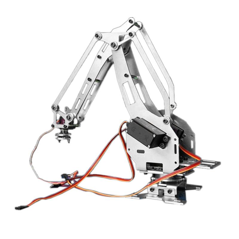 KDX DIY 6DOF Aluminum Robot Arm 6 Axis Rotating Mechanical Robot Arm Kit  With 5 Servos