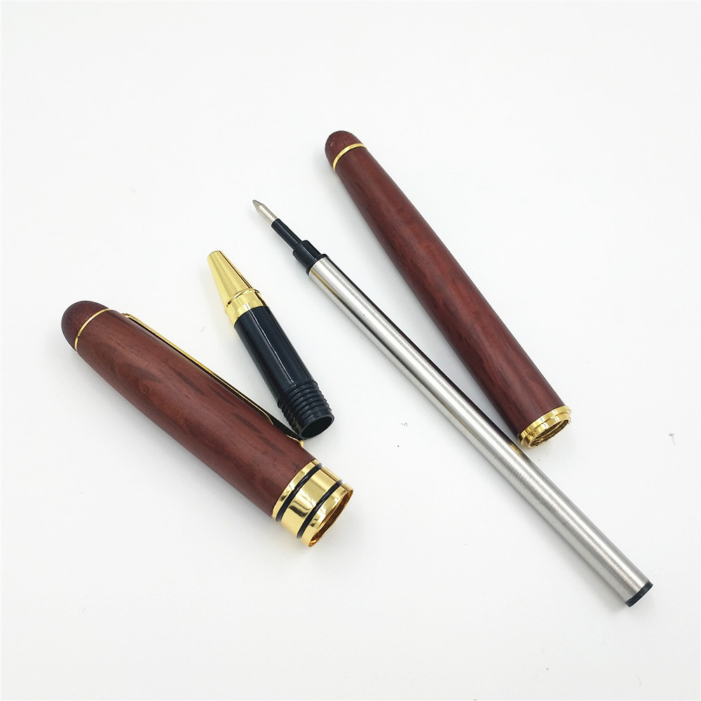 Creative 0.5mm Fine Nib Maple Fountain Pen Signing Pen With Wooden Pen Box For Writing Stationery