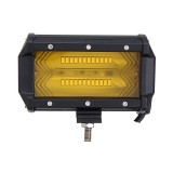 1pcs 5Inch 72W 1300LM LED Car Work Light Flood Spot Combo Fog Lamp for Jeep Offroad SUV Boat Amber