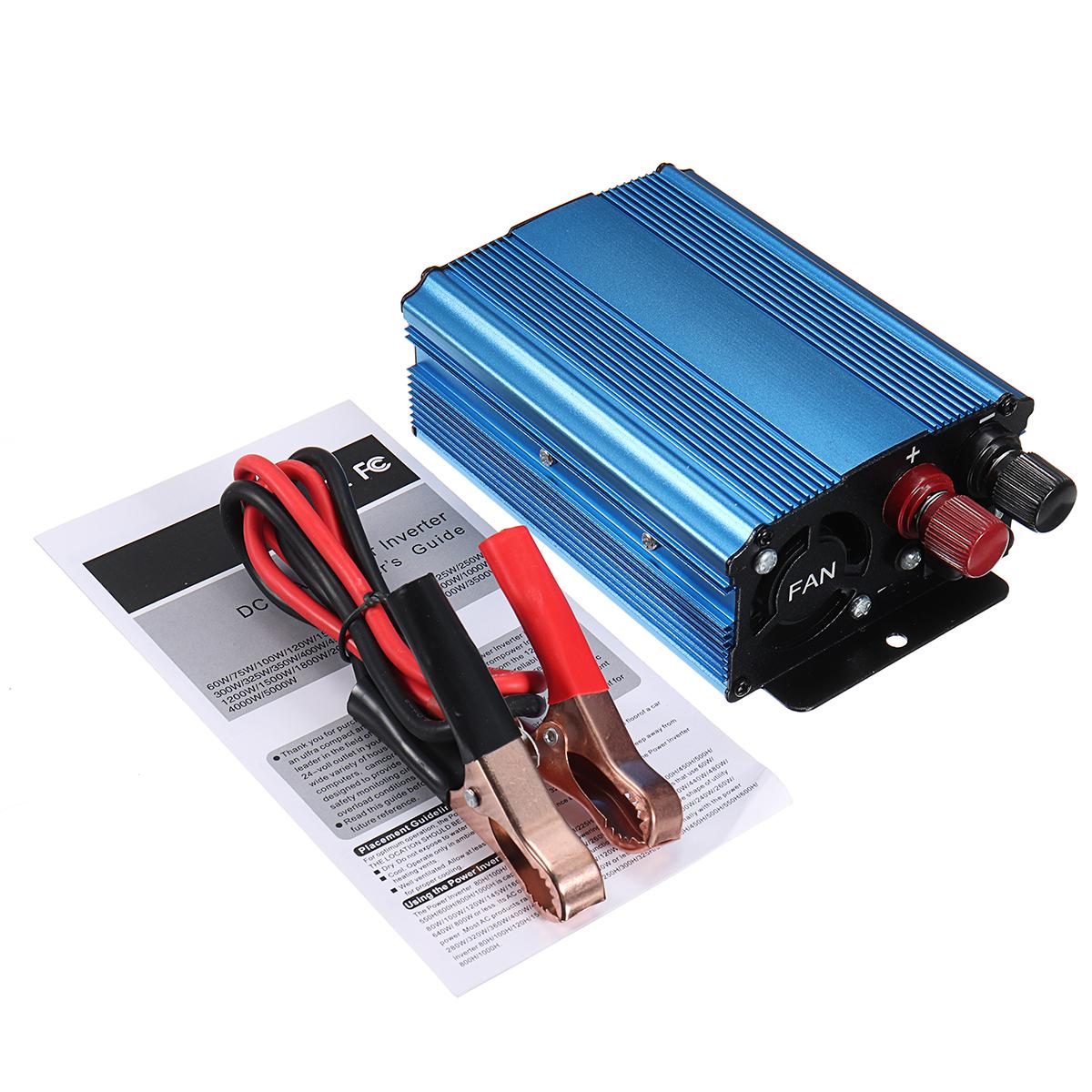 DC 12V To AC 220V Solar Power Inverter 500W Peak Modified Sine Wave  Converter