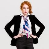 Women Business Silk Scarves Graphic Print Neckerchief Satin Hair Scarf Wrap Headscarf Female Ties