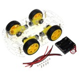 DIY 4WD Double-Deck Smart Robot Car Chassis Kits with Speed Encoder