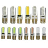 Pair T10 W5W 6W 250LM 2COB Car LED Side Marker Lights Bulb Turn Lamp Seven Colors Bulb