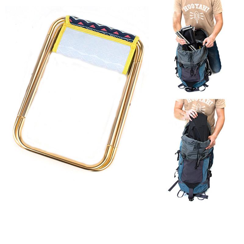 Bearing 100kg Folding Chair Hiking Camping Portable Stool