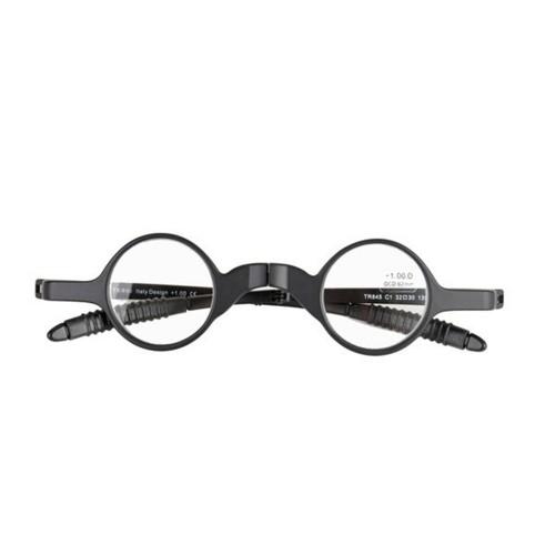 Women Men Folding Presbyopic Glasses Black Metal Frame Sunglasses Reading Glasses With Glasses Case