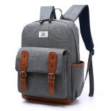 Men Nylon Vintage Large Capacity Satchel Shoulder Bag Backpack Outdoor Sport Bag