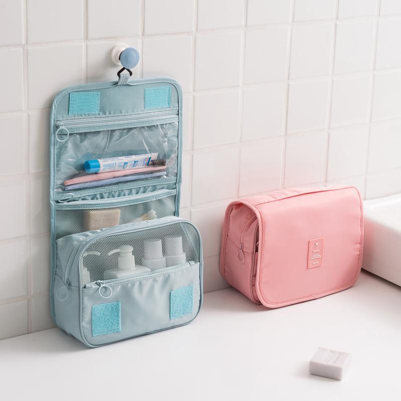 Hanging Toiletry Bag Travel Organizer Wash Make Up Cosmetic Case For Women Men Kit