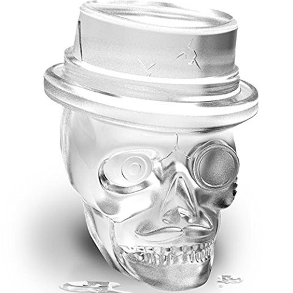 kcasa 3d skull ice cube tray halloween ice mold cocktiail silicone