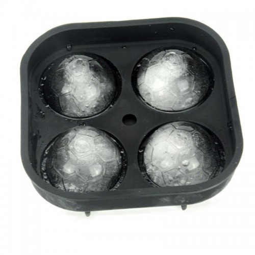 1PC Football Series 4 Compartments Ice Mold Shape Tray Shape 3D Ice-cream Mold Ice Mold