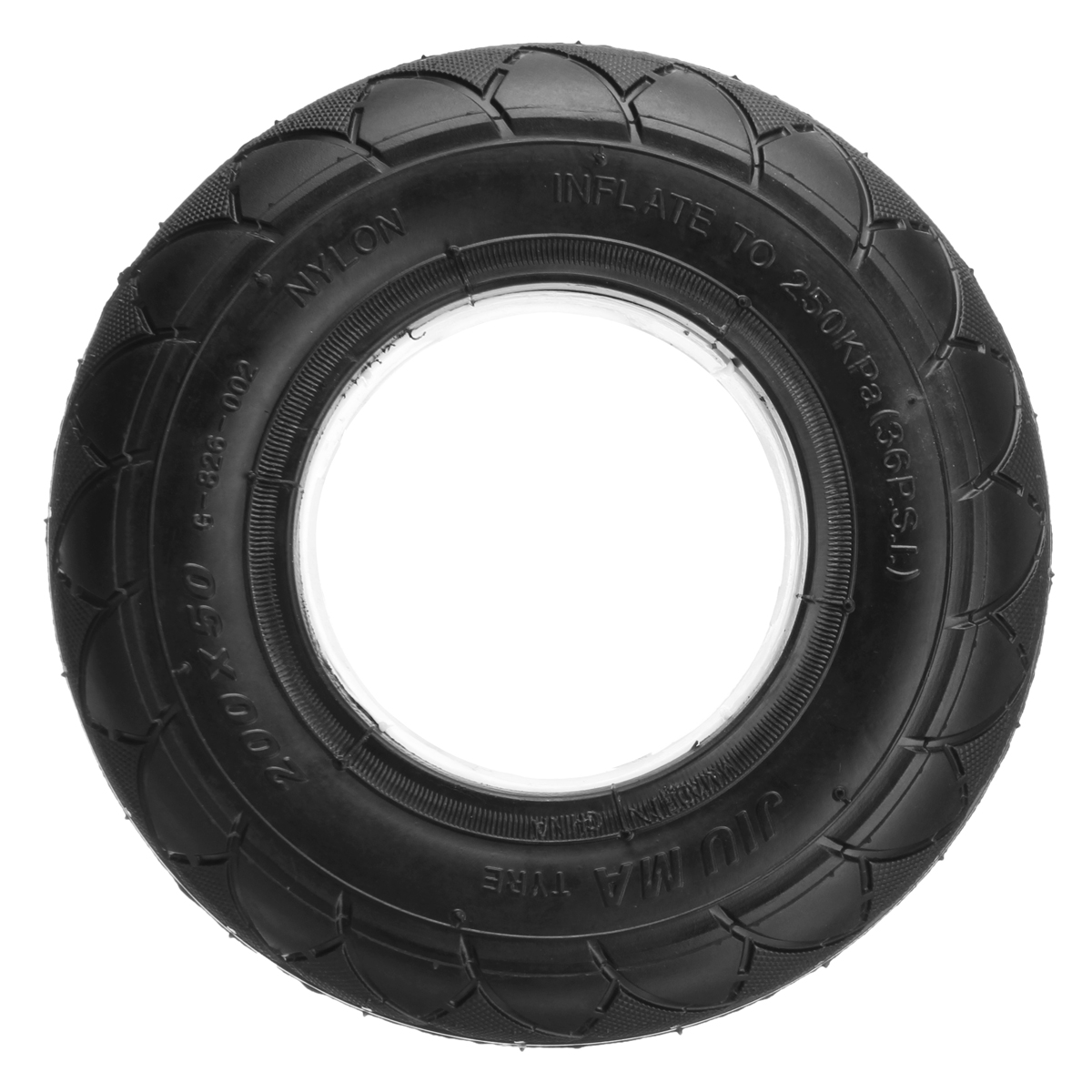 "BIKIGHT Electric Scooter Tire Cover Tyre Cross-country Tread Pattern For Razor 200x50 (8"" x 2"")"