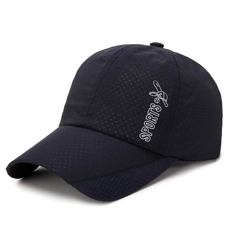 c4e9b01e60d256 Men Summer Mesh Breathable Baseball Cap Outdoor Sunscreen Visor Peaked Hat
