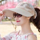 Women Summer Causal Wide Brimmed Sun Hat Outdoor Adjustable Sunshade Visor Empty Top Hats